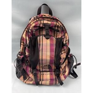 The North Face Recon Backpack - Pink & Black Plaid